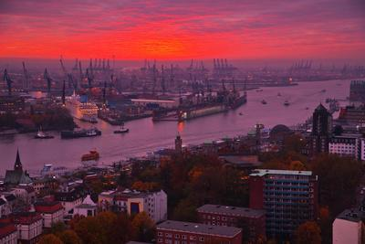 Evening Mood in the Hamburg Harbour