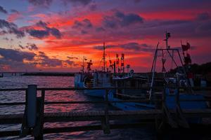 Evening Mood in the Harbour of Timmendorf, Baltic Sea Island Poel by Thomas Ebelt