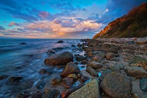 Evening Mood on the Coast of Baltic Sea in Front of Boltenhagen-Gro?kl?tzh?ved by Thomas Ebelt