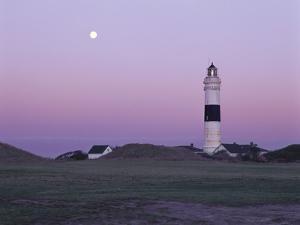Germany, Schleswig-Holstein, Kampen, Lighthouse, Evening Mood by Thomas Ebelt
