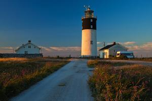 Lighthouse Hoburgen at the South Point of the Gotland Island, Sweden by Thomas Ebelt