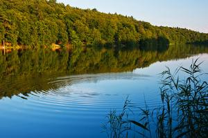 M?llner Schmalsee Lake in the Evening Light by Thomas Ebelt