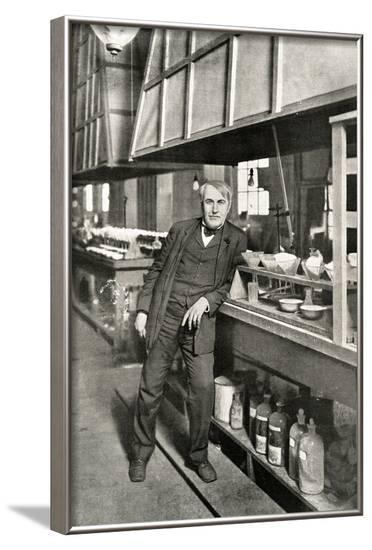 Thomas Edison, Leaning--Framed Photographic Print