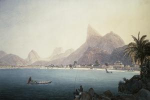 The Bay of Bota-Fogo, Rio De Janeiro by Thomas Ender