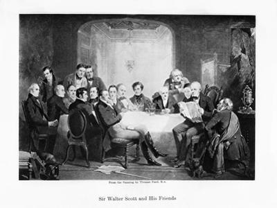 Sir Walter Scott and His Friends, C1849