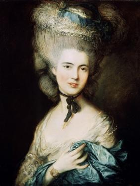 A Lady in Blue (Duchess of Beaufor), C1780 by Thomas Gainsborough