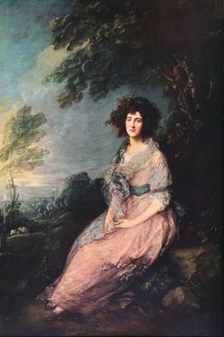 'Mrs. Richard Brinsley Sheridan', 1785-1787 by Thomas Gainsborough
