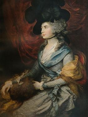 'Mrs Siddons', 1785 by Thomas Gainsborough