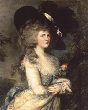 Portrait of Georgiana, Duchess of Devonshire by Thomas Gainsborough