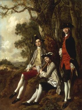 Portrait of Peter Darnal Muilman, Charles Crockatt and William Keeble by Thomas Gainsborough