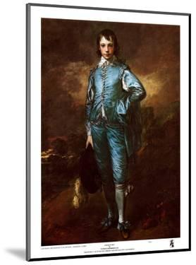 The Blue Boy - Gold Trim by Thomas Gainsborough