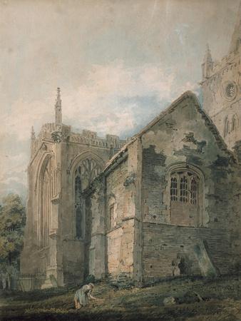 Thomas Girtin Interior of Tintern Abbey Giclee Canvas Print Paintings Poster