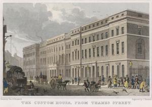 London Custom House by Thomas H Shepherd