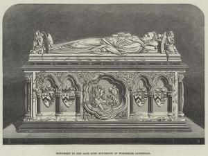 Monument to the Late Lord Lyttelton in Worcester Cathedral by Thomas Harrington Wilson