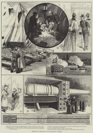 Sketches at the Royal Naval Exhibition, Chelsea by Thomas Harrington Wilson