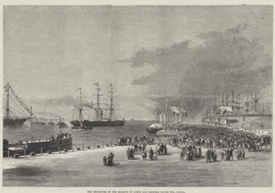 The Departure of the Marquis of Lorne and Princess Louise for Canada by Thomas Harrington Wilson