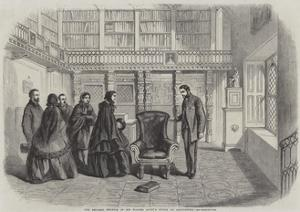 The Empress Eugenie in Sir Walter Scott's Study at Abbotsford by Thomas Harrington Wilson