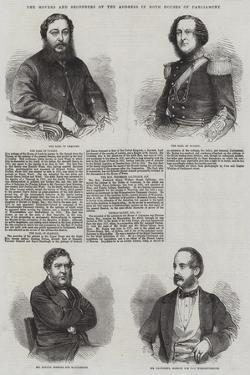 The Movers and Seconders of the Address in Both Houses of Parliament by Thomas Harrington Wilson