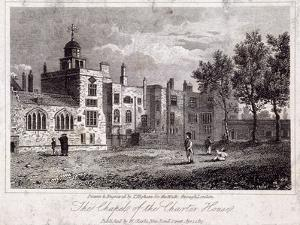 The Chapel at Charterhouse with Figures, Finsbury, London, 1817 by Thomas Higham