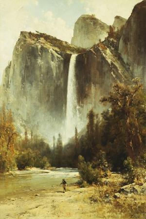 Bridal Falls, Yosemite by Thomas Hill