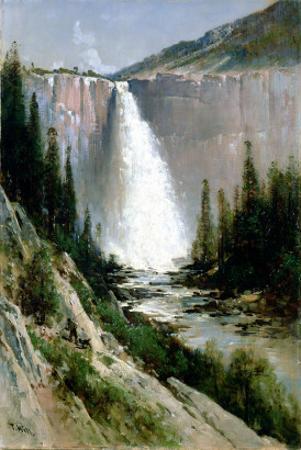Bridal Veil Falls, Yosemite by Thomas Hill