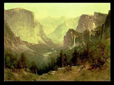 Hunting in Yosemite, 1890 by Thomas Hill