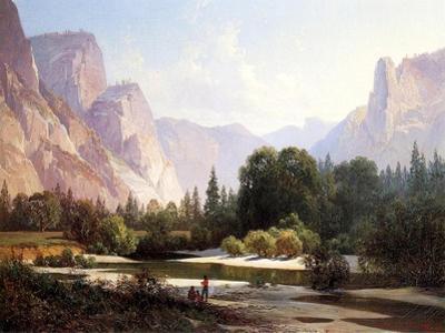 Piute Indian Camp, Yosemite, 1890 by Thomas Hill