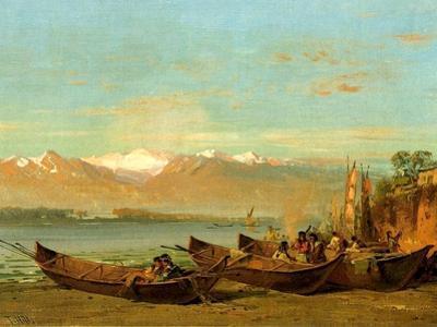 The Salmon Festival, Columbia River, C.1888
