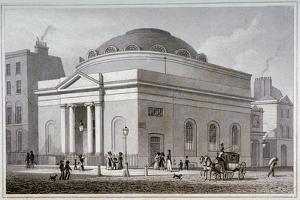 Albion Chapel, London, C1827 by Thomas Hosmer Shepherd