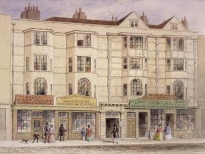 Aldersgate Street, London, 1851 by Thomas Hosmer Shepherd