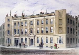 Apothecaries Lane, 1855 by Thomas Hosmer Shepherd