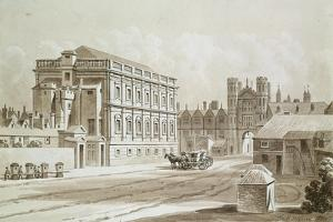 Banqueting House and King's Gate, 1827 by Thomas Hosmer Shepherd