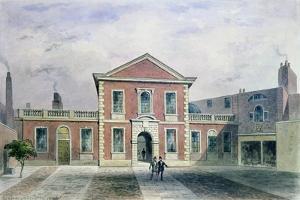 Barber Surgeons Hall, 1846 by Thomas Hosmer Shepherd