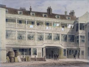 Belle Sauvage Yard, Ludgate Hill, London, C1850 by Thomas Hosmer Shepherd