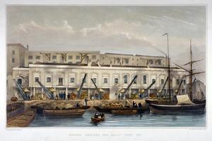 Brewer's Quay, Chester Quay and Galley Quay, Lower Thames Street, City of London, 1841 by Thomas Hosmer Shepherd