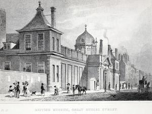 British Museum, Great Russell Street by Thomas Hosmer Shepherd