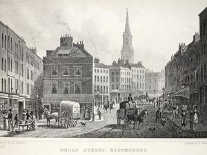 Broad Street by Thomas Hosmer Shepherd