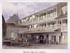 Bull and Gate Inn, Holborn, London, C1850 by Thomas Hosmer Shepherd