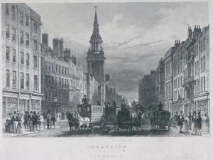 Cheapside, London, C1830 by Thomas Hosmer Shepherd