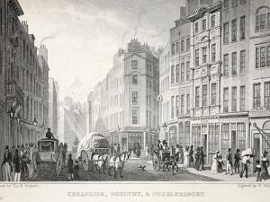 Cheapside, Poultry and Bucklersbury by Thomas Hosmer Shepherd