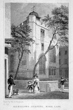 Church of All Hallows Staining, London, 1829 by Thomas Hosmer Shepherd