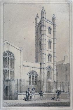 Church of St Mary Aldermary, City of London, 1830 by Thomas Hosmer Shepherd