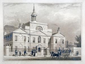 City of London Lying-In Hospital, City Road, Finsbury, London, C1827 by Thomas Hosmer Shepherd