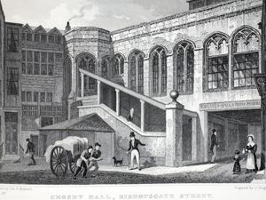 Crosby Hall, from 'London and it's Environs in the Nineteenth Century' by Thomas Hosmer Shepherd