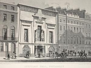 Egyptian Hall by Thomas Hosmer Shepherd