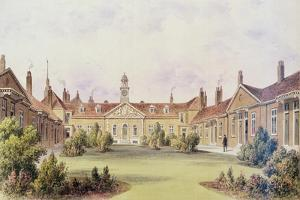 Emanuel Hospital, Tothill Fields, 1850 by Thomas Hosmer Shepherd