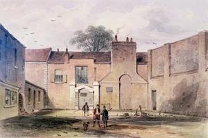 Entrance to Tothill Fields Prison, 1850 by Thomas Hosmer Shepherd