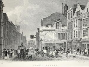 Fleet Street, from 'London and it's Environs in the Nineteenth Century' by Thomas Hosmer Shepherd