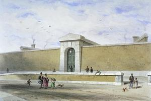 Gateway of Bridewell Prison, Tothill Fields, Westminster, London, C1850 by Thomas Hosmer Shepherd