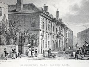 Goldsmith's Hall by Thomas Hosmer Shepherd